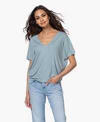 by-bar Donna Striped Drawstring T-shirt - Cloud