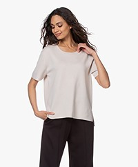 Filippa K Rose Merino Short Sleeve Sweater - Ivory