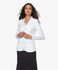 JapanTKY Dannot Travel Jersey Blazer - White