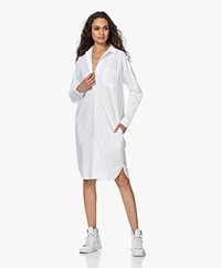 by-bar Suzy Cotton Poplin Shirt Dress - White