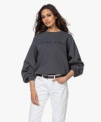ANINE BING Esme Logo Sweatshirt - Washed Indigo