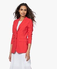 JapanTKY Yuu Getailleerde Blazer - Japanese Red