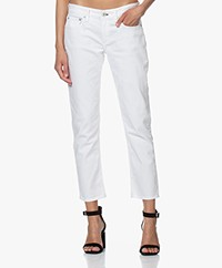 Rag & Bone Dre Low-rise Slim Boyfriend Jeans - Wit