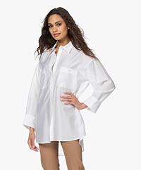 Filippa K Sandie Lyocell Oversized Overhemd - Coconut White