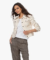 Drykorn Somerton Cotton Denim Jacket - Ecru