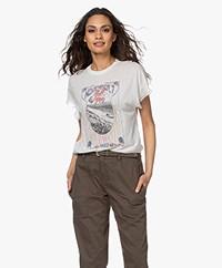 IRO Lynx Lyocell Print T-shirt - Cloudy White