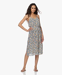 Marie Sixtine Mallory Printed Viscose Dress - Abricotier