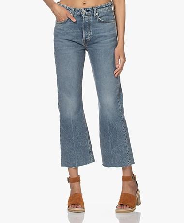 Rag & Bone Maya High-Rise Cropped Flare Jeans - Farrow
