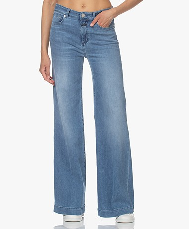 Closed Glow-Up Flared Stretch Jeans - Middenblauw