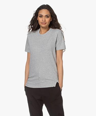 bassike Heritage Organic Cotton T-shirt - Grey Melange