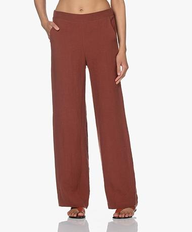 Woman by Earn Lizzy Linen Pants - Burnt Orange