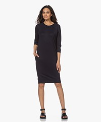 JapanTKY Meta Lyocell Blend Jersey Sweater Dress - Black Blue