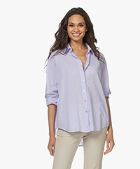 no man's land Cotton Batiste Blouse - Pale Lilac