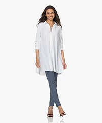 JapanTKY Emi Travel Jersey A-line Tunic Blouse - White