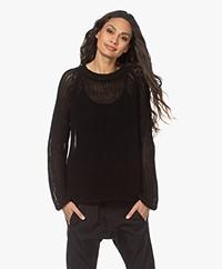 Woman by Earn Lova Open Knitted Sweater - Black