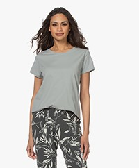 no man's land Katoenen Basis T-shirt - Sage