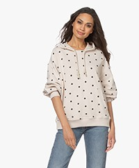 By Malene Birger Sibel French Terry Print Hoodie - Stone
