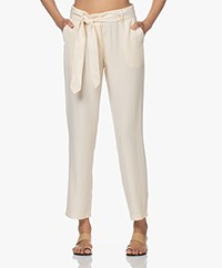Josephine & Co Lotje Lyocell Pants with Tie-belt - Sand