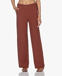Woman by Earn Lizzy Linen Pants - Burnt Orange