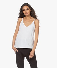 Bassike Double V-neck Jersey Camisole - White