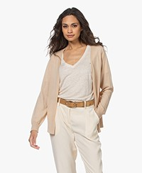 Josephine & Co Lise Tencelmix Kort Open Vest - Natural
