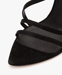 IRO Romy Suède Strap Sandalen met Hak - Zwart
