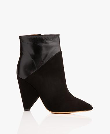 IRO Vileana Leather Ankle Boots - Black