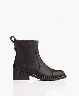Zadig & Voltaire Empress Clous Biker Boots - Black