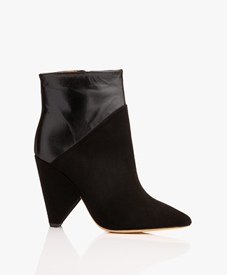 IRO Vileana Leather Ankle Boots - Black