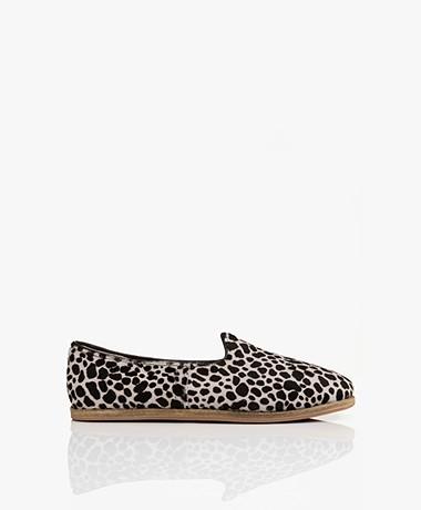 SURÉE Hairy Leren Print Loafers - Felidae