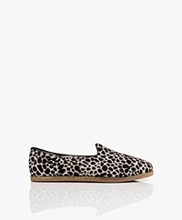 SURÉE Hairy Leather Print Loafers - Felidae