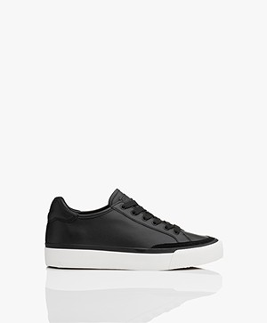 Rag & Bone RB Army Low Leren Sneakers - Zwart