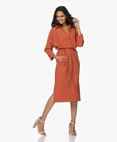 JapanTKY Wada Travel Jersey Dress - Backed Clay