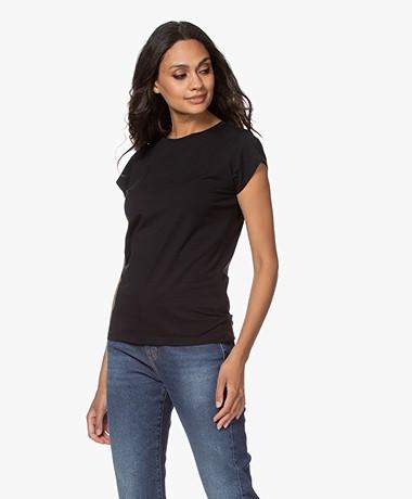 no man's land Katoenen Jersey T-Shirt - Zwart