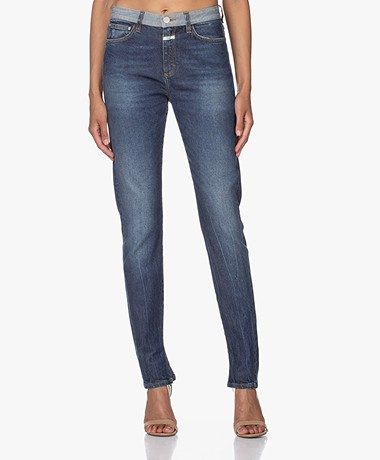 Closed Baker Duurzame High-rise Selvedge Jeans - Donkerblauw