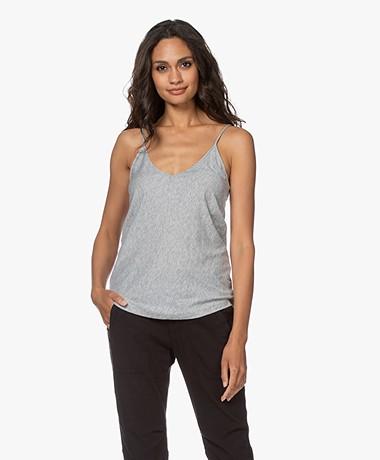 Skin Pima Cotton Jersey Camisole - Heather Grey