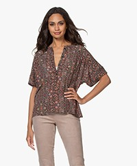 by-bar Bo Indian Flower Korte Mouwen Blouse - Multi-color
