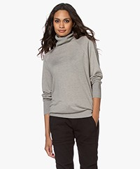 Repeat Bamboo Viscose and Cashmere Turtleneck Sweater - Taupe
