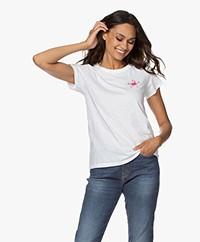 Rag & Bone Hibiscus Floral Print T-shirt - Wit