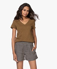 American Vintage Sonoma Slub Jersey T-shirt - Asperge