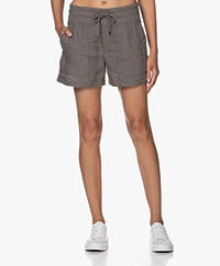 James Perse Military Linen Shorts - Artichoke