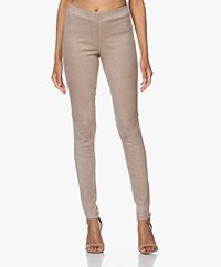 Repeat Luxury Suede Slim-fit Pants - Taupe