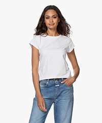 no man's land Cotton Jersey T-Shirt - White