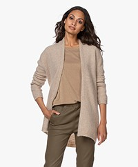 no man's land Open Mohair Blend Cardigan - Oak