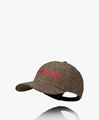 ba&sh Hanna Herringbone Woolen Cap - Brown