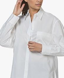 Joseph Gibson Chintz Poplin Shirt - White