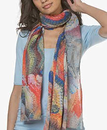 LaSalle Modal Blend Scarf with Print - Multi