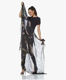 Zadig & Voltaire Delta Camouflage Sjaal - Marine