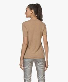 Joseph Cashair Pure Cashmere T-shirt - Camel
