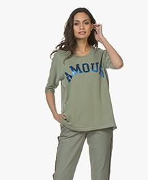 Zadig & Voltaire Portland Amour Print T-shirt - Kaki